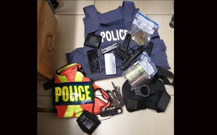 Police in Limpopo on Saturday 28 December 2019 arrested a 28-year-old suspect for theft of a police firearm, impersonating a police officer, unlawful possession of a firearm and ammunition, SAPS bulletproof vest and for resisting arrest. Picture: @SAPoliceService/Twitter
