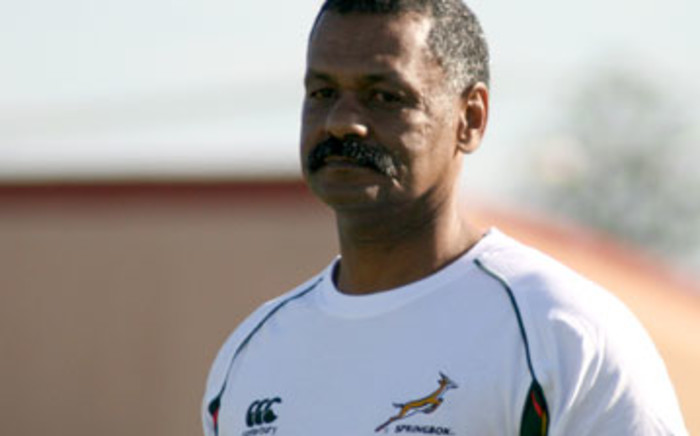 Springbok coach Peter de Villiers looks on during a training session in Cape Town on 7 July 2011. Picture: Aletta Gardner/EWN