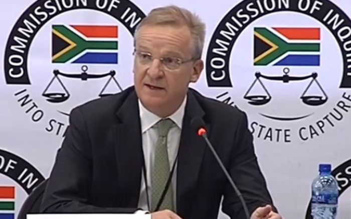 FILE: A screengrab fo Nedbank CEO Mike Brown appearing at the Zondo Commission on 19 September 2018.