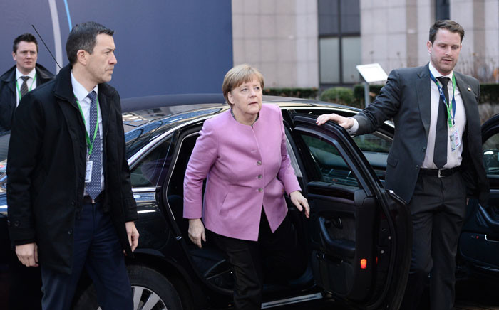 FILE: German Chancellor Angela Merkel arrives for the second day of an EU summit meeting on February 19, 2016. Picture: AFP/Stephane de Sakutin.