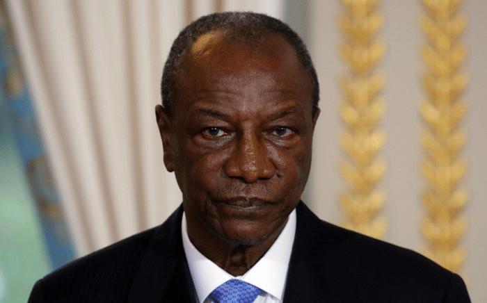 FILE: Guinea's President Alpha Conde. Picture: AFP.