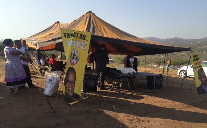 Ntolwane Primary School in Nkandla where hundreds of people are expected to cast their vote. Picture: Kgothatso Mogale/EWN.