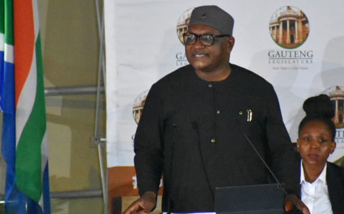 Gauteng Premier David Makhura during his State of the Province Address on 25 February 2020. Picture: @GautengProvince/Twitter