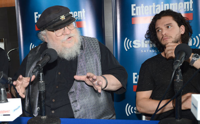 'Game of Thrones' author George RR Martin (left). Picture: AFP