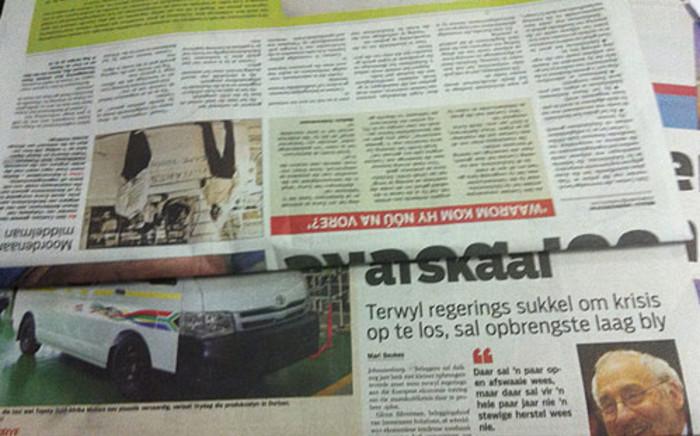 Newspapers. Picture: Lindiwe Mlandu/EWN