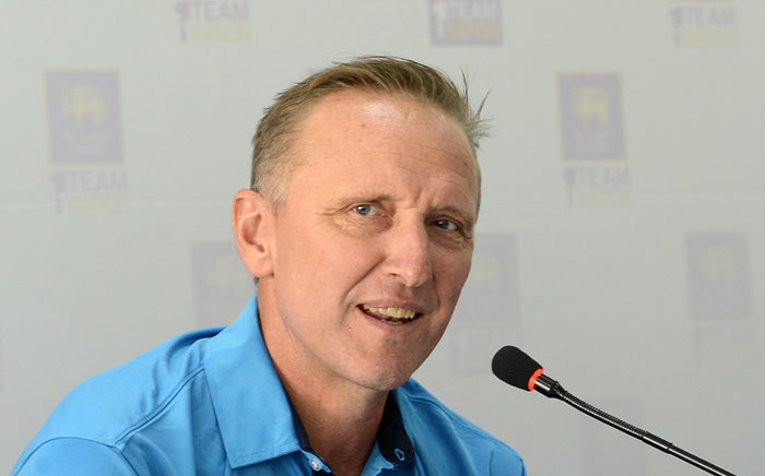FILE: Former South African cricketer Allan Donald addresses media representatives at a press conference in Colombo on 2 May 2017. Picture: AFP