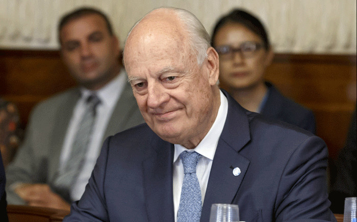 UN Special Envoy of the Secretary-General for Syria Staffan de Mistura attends a meeting on creating a committee to help draft a new constitution for Syria, at the European headquarters of the United Nations in Geneva on 11 September 2018. Picture: AFP