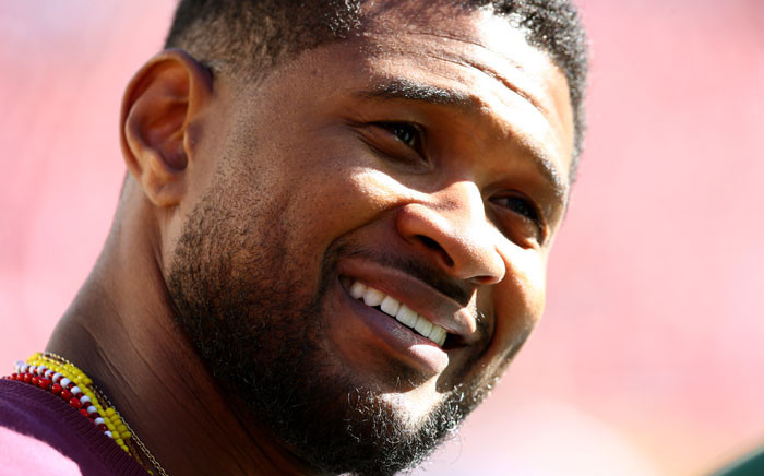 Recording artist Usher. Picture: AFP.