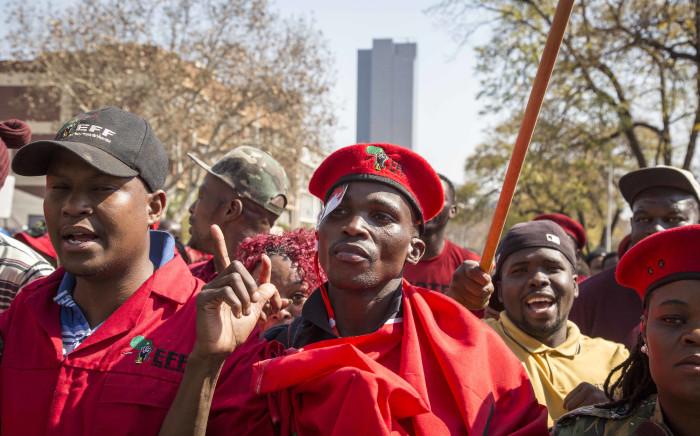 FILE: EFF members at Church Square in Pretoria. Picture: Thomas Holder/EWN
