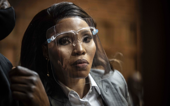 Norma Mngoma, estranged wife of Former Finance Minister Malusi Gigaba, at the Pretoria Magistrates Court on 14 September 2020. Picture: Abigail Javier/EWN
