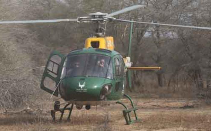 The SanParks helicopter. Picture: Christa Van der Walt/EWN