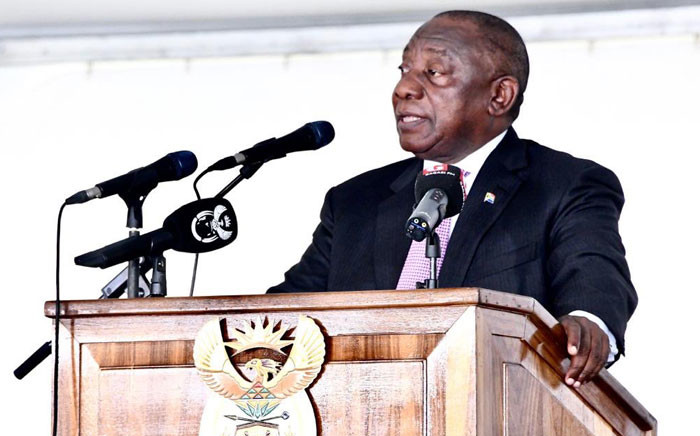 President Cyril Ramaphosa delivered the keynote address at the Bergville Municipal Sports Complex in KwaZulu-Natal on Reconciliation Day 2019. Picture: @PresidencyZA/Twitter
