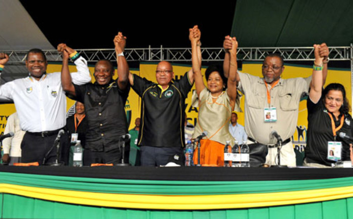 The ANC top six at the 53rd National Conference at the University of Free State in Bloemfontein (Mangaung). Picture: ANC