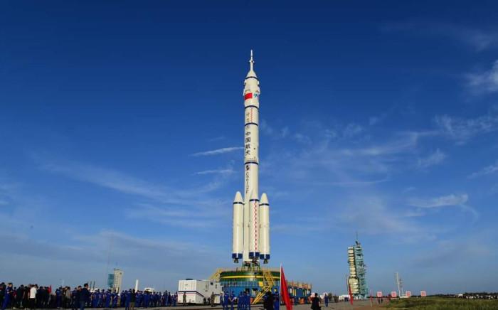 China's Jiuquan Satellite Launch Center.  @YangZha42341102/ Twitter