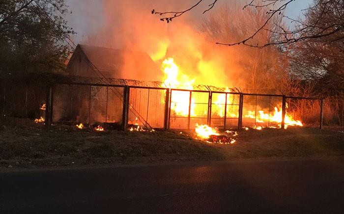 A substation in Randburg caught fire. Picture: EWN.