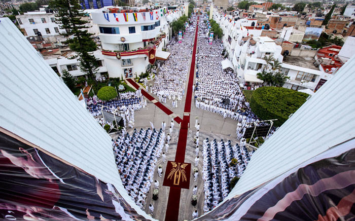 FILE: Faithful take part in the 2018 annual Holy Convocation of La Luz del Mundo (The Light of the World) church on 14 August 2018, in Guadalajara, Jalisco state, Mexico, where its headquarters are located. Picture: AFP