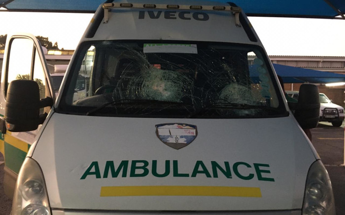 EMS teams in the Western Cape came under attack in July 2002, including one team that was transporting a patient in an ambulance. Picture: Supplied