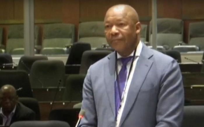 A screengrab of former Public Investment Corporation (PIC) CEO Dan Matjila appearing at the commission of inquiry into the PIC on 8 July 2019.
