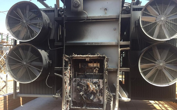 Damage to the #Allandale substation after protesters from the informal settlement set it on fire on Wednesday09 October 2018. Picture: @CityPowerJhb/Twitter.com