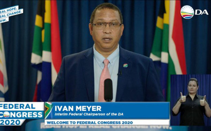 DA federal chairperson Ivan Meyer kicked off the DA's congress. Picture: Twitter @Our_DA.