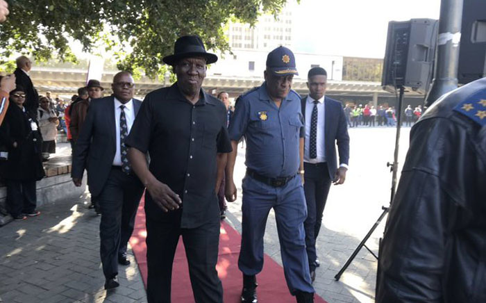 Police Minister Bheki Cele pictured in Cape Town ahead of elections on 6 May 2019. Picture: Lauren Isaacs/EWN
