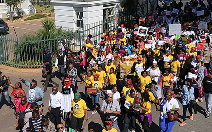 Local artists, activists and ordinary South Africans staged a march to the Nigerian consulate in Johannesburg.