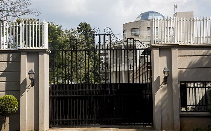 The compound belonging to the Gupta family in Saxonwold. Picture: EWN.