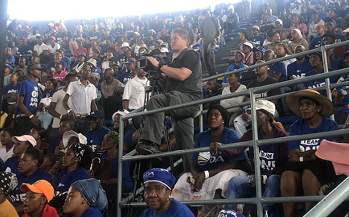 Democratic Alliance supporters seen at the Sausville Arena on 9 March 2019. Picture: Bonga Dlulane/EWN