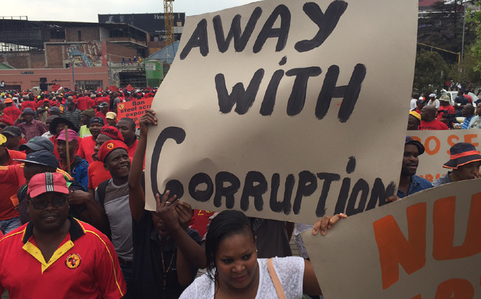 FILE: Hundreds march against corruption. Picture:EWN.