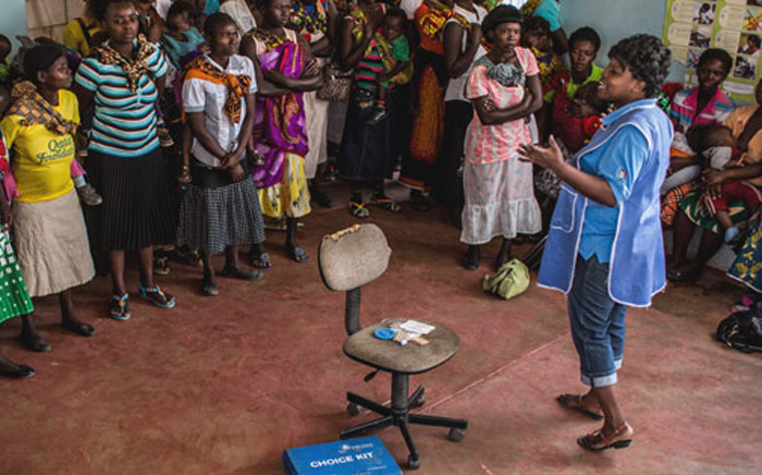 A Marie Stopes employee offering family planning counselling. Picture: Marie Stopes
