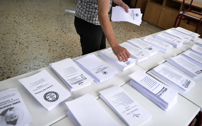 Greek vote. Picture: AFP