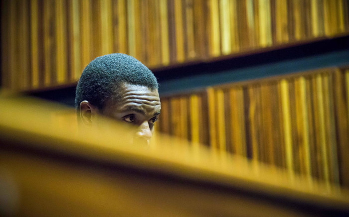 Mcebo Dlamini awaits the verdict of his bail appeal at the Palm Ridge Magistrates Court in Thokoza. Picture: Thomas Holder/EWN