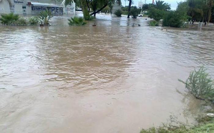 The streets of Bela-Bela flooded after a dam burst its banks. Picture: via twitter @Amshimmymadala