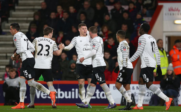 Ross Barkley celebrates making it 1-0 earlier in the second half before Everton progressed to the 6th round of the FA Cup, beating Bournemouth 2-0 at The Vitality Stadium on 20 February 2016. Picture: @Everton via Twitter.