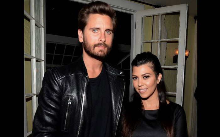 FILE: TV personalities Scott Disick and Kourtney Kardashian. Picture: AFP.