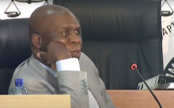 A YouTube screengrab of former chairperson of the high-level review panel into the State Security Agency, Sydney Mufamadi, appearing at the state capture inquiry on 25 January 2021.
