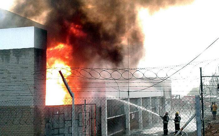 Three substations exploded in Benoni on 22 January 2016 causing widespread electricity blackouts in the area. Picture: Supplied.