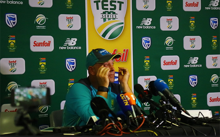 Australian cricket coach Darren Lehmann announces his resignation on 29 March 2018 in the wake of the ball-tampering scandal. Picture: Kayleen Morgan/EWN