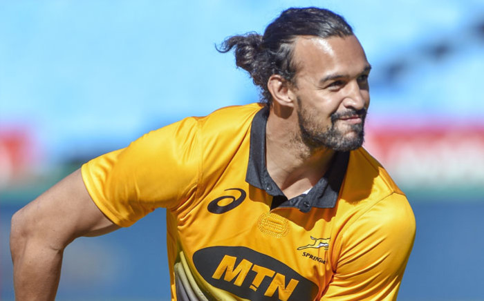 Springbok winger Dillyn Leyds during a training session. Picture: AFP
