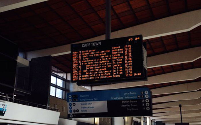 Platforms 8 to 12 have been out of commission, causing delays of up to an hour during the morning peak today. Picture: Shamiela Fisher/EWN