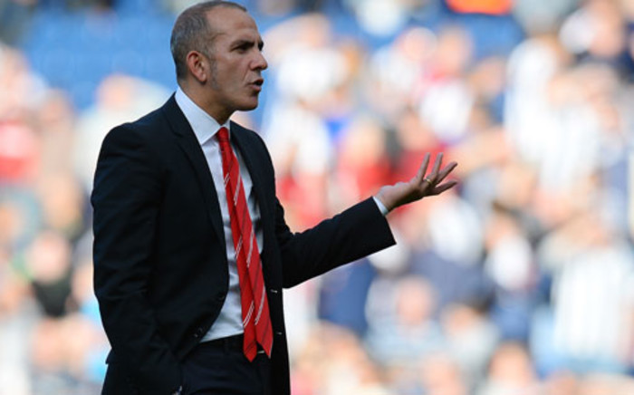 Sunderland manager Paolo Di Canio reacts towards the Sunderland fans after the English Premier League football match between West Bromwich Albion and Sunderland at The Hawthorns in West Bromwich, central England, on 21 September 2013. Picture: AFP/ANDREW YATES