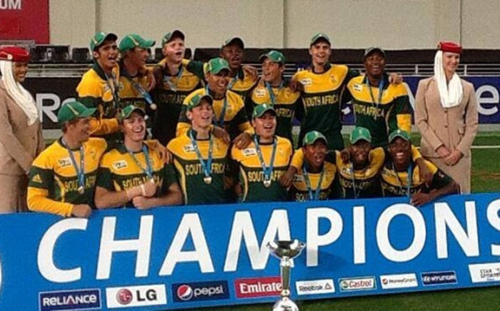 The Baby Proteas were victorious at the 2014 ICC under-19 World Cup in Dubai. Picture: Facebook.
