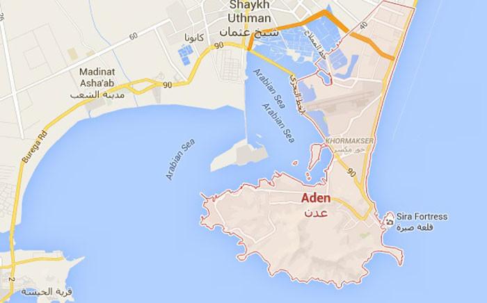 Aden, a port city in Yemen. Picture: Google Earth.