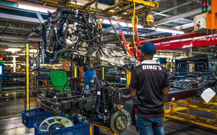 FILE: Workers on a vehicle assembly line. Picture: @FordSouthAfrica/Twitter
