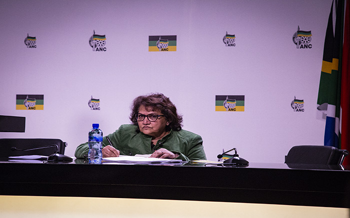FILE: ANC deputy secretary-general Jessie Duarte at a media briefing on 14 August 2018. Picture: Kayleen Morgan/EWN