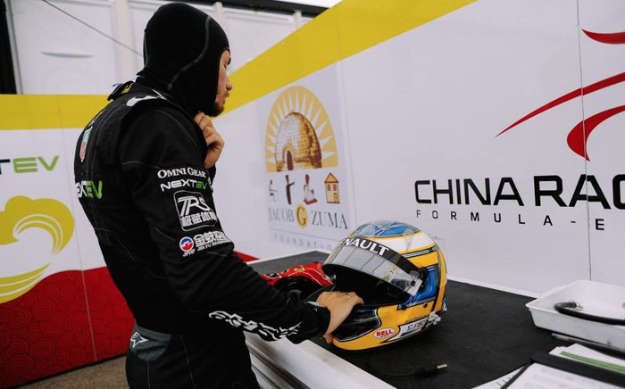 Questions were raised after the logo was spotted on a Chinese electric racing car and in its garage. Picture: Supplied.