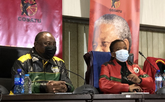 Cyril Ramaphosa spoke at the virtual Cosatu Workers' Day celebrations organised by the trade union in Braamfontein on Saturday. Picture: @CyrilRamaphosa/Twitter