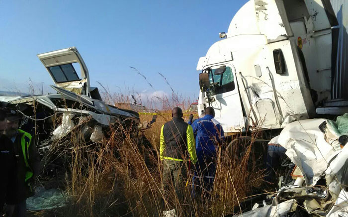 On Tuesday an accident between a truk and a minibus occured in Mpumalanga where 18 people were killed. Picture: ER24
