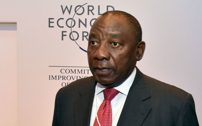 Deputy President Cyril Ramaphosa at the World Economic Forum in 2018. Picture: GCIS