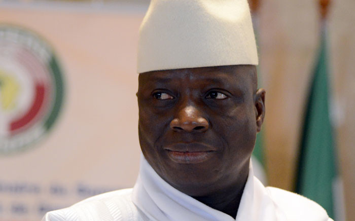 Former President Yahya Jammeh of Gambia. Picture: AFP